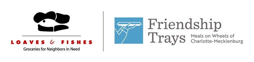 New combined logo for Loaves & Fishes/Friendship Trays, inc.: Stronger Together in Fighting Hunger